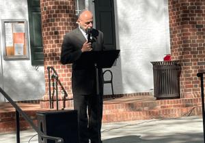 Rabbi Mo speaking at an interfaith event